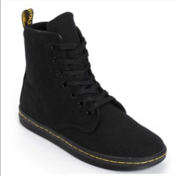 Canvas Doc Marten Black High Top Boot