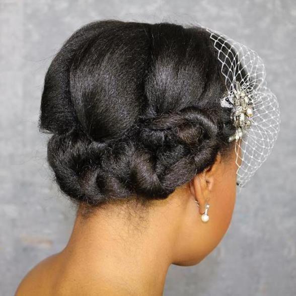 50 Superb Black Wedding Hairstyles | Short natural hair, Black ...