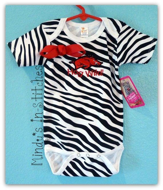 f6320ef89 Future Tailgater Arkansas Razorback Baby Onesie Dress Baby Clothing Sports  & Outdoors