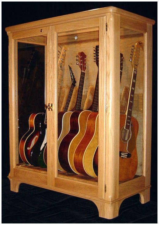 Guitar Storage Cabinet Display, Guitar Storage Cabinet
