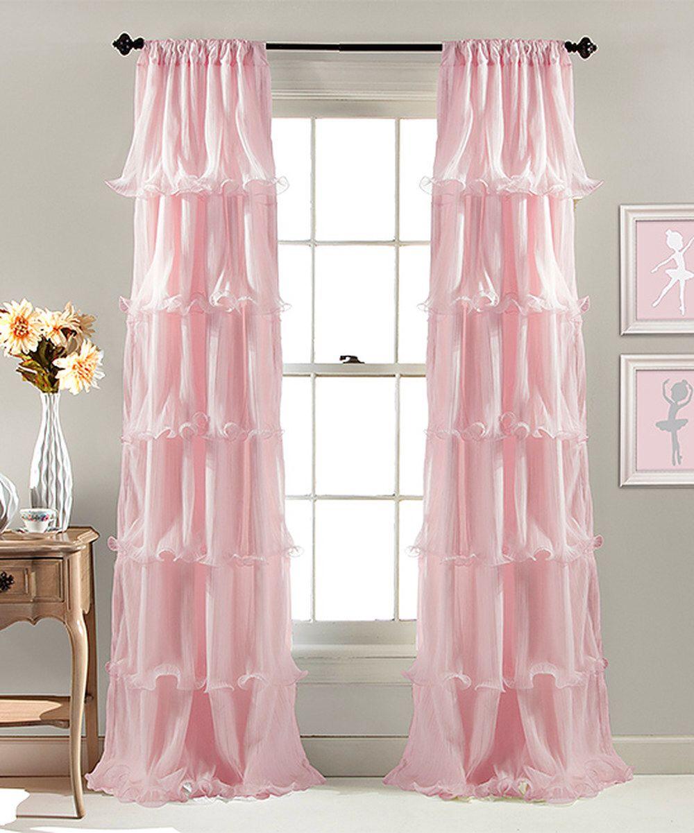 Soft Pink Curtains Zulily Com Pink Curtains Ruffle Curtains