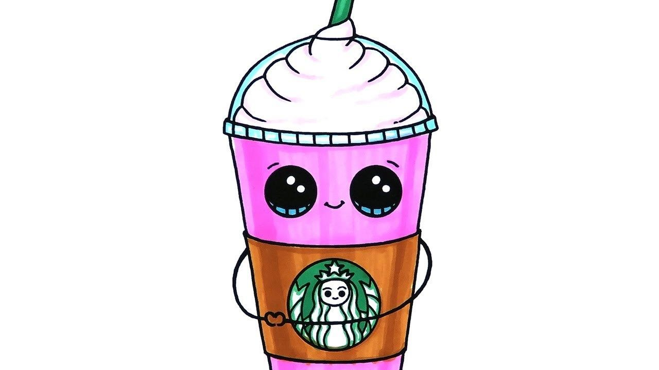 Excellent Image Of Starbucks Coloring Page Cute Drawings Cute