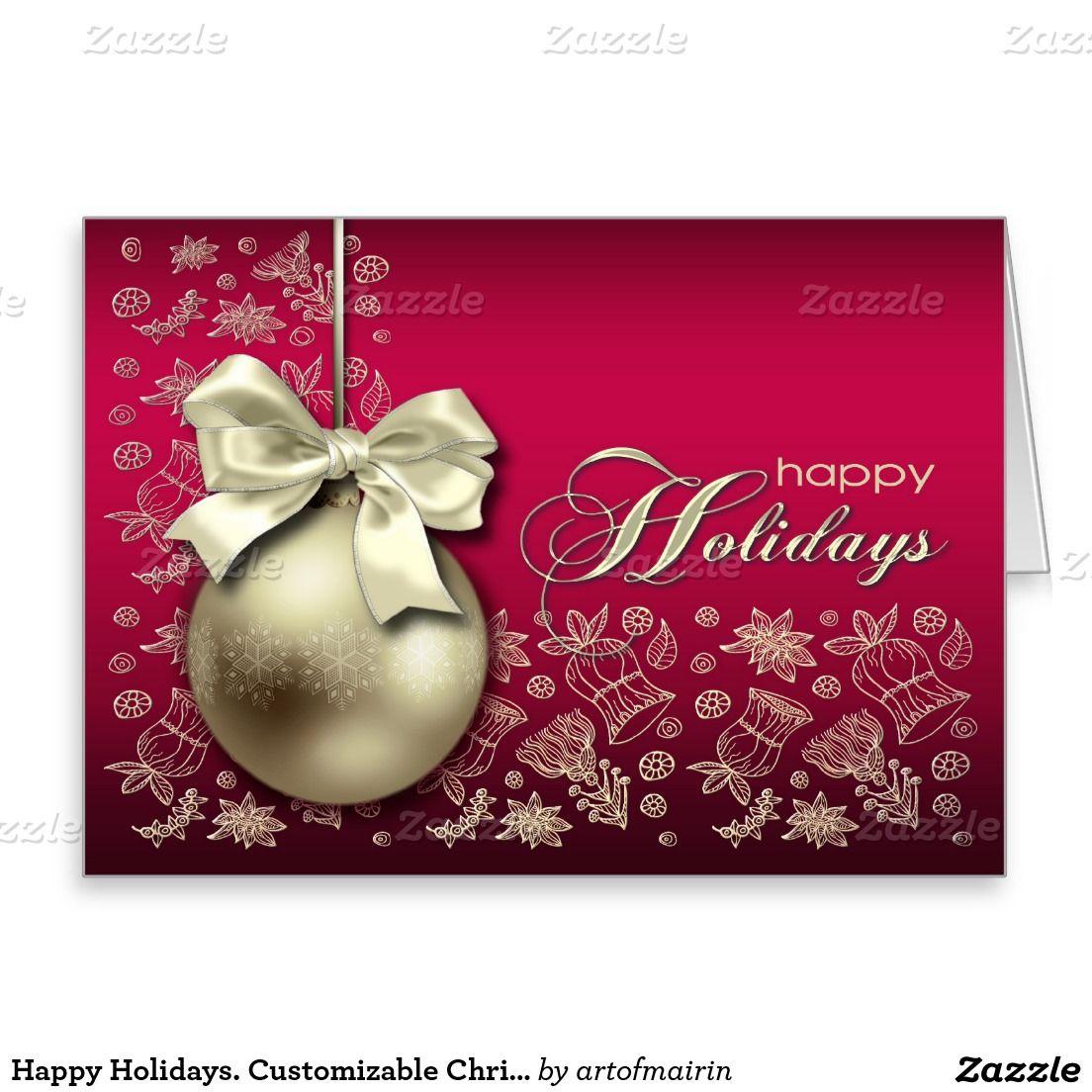 Happy Holidays Customizable Christmas Card Holidays