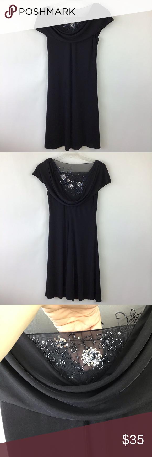 Patra Black Beaded Dress Size 12 Evening Black Beaded Dress Beaded Dress Dresses [ 1740 x 580 Pixel ]