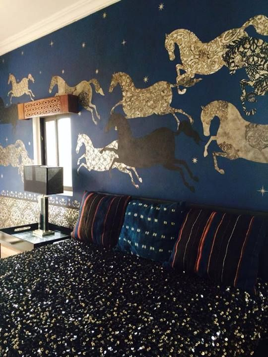 One of the rooms recently stenciled by royal design studio - Schablone wandmalerei ...