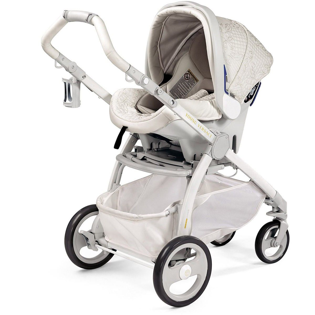 Young Versace Baby White Stroller And Travel Set Young Versace Baby White Stroller And Travel Set Baby Girl