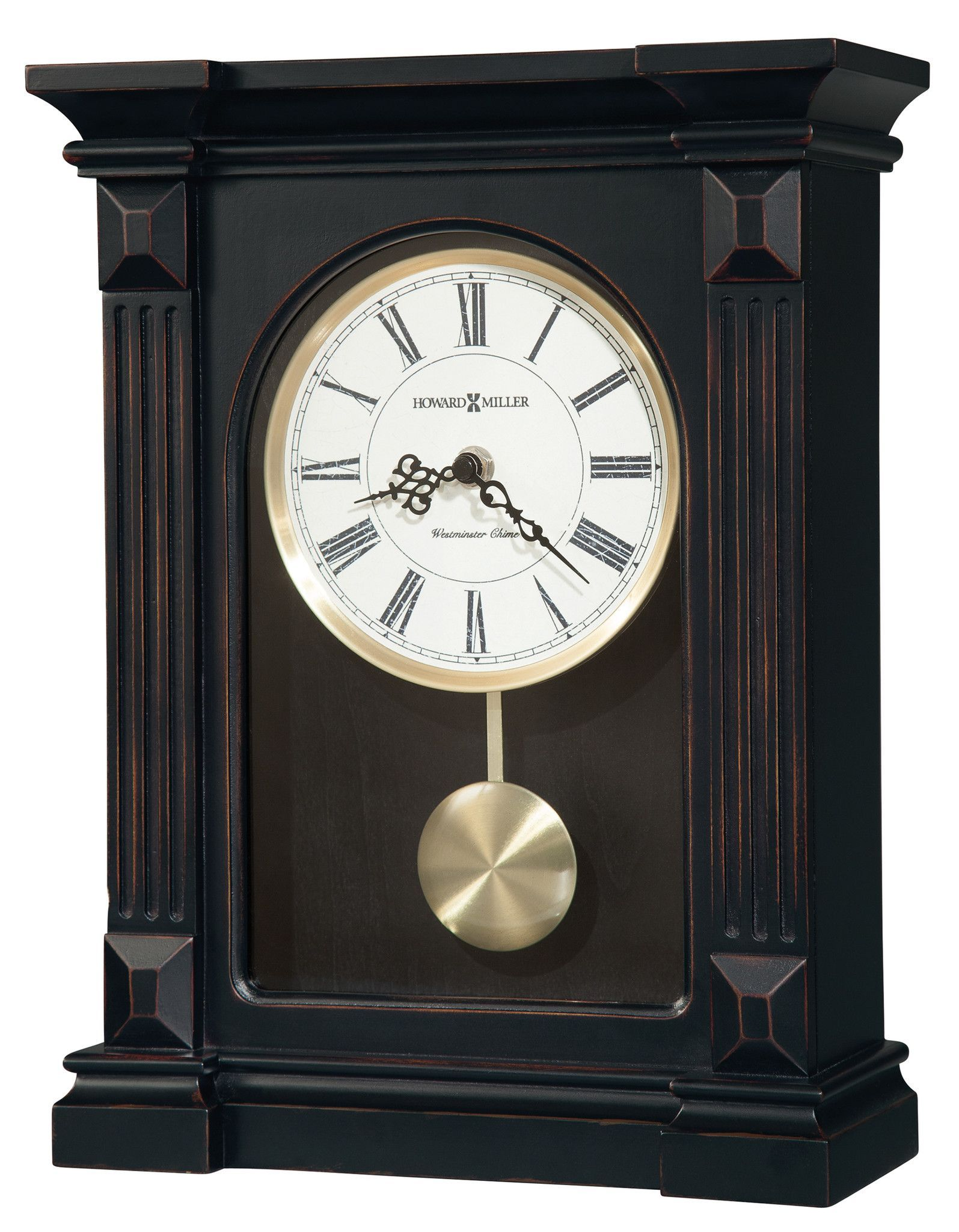 Grandfather Pendulum Clock Westminster 4 Chime Wall Battery Antique Roman Number