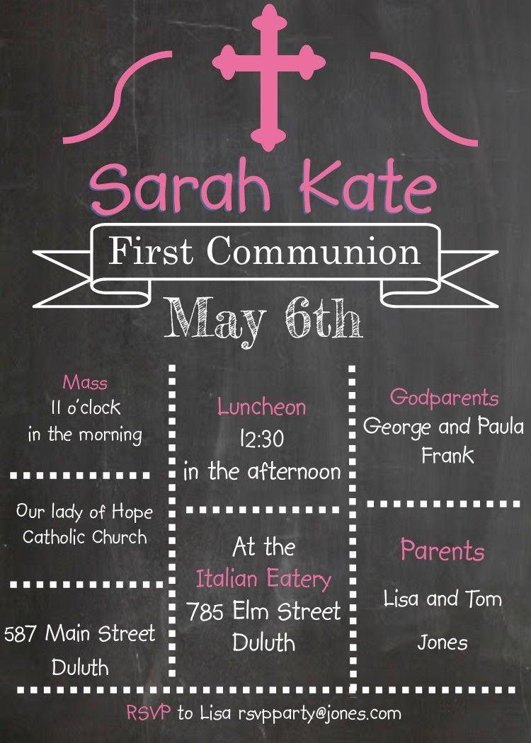Modern Kraft First Holy Communion Invitation – Communion Party Invitations