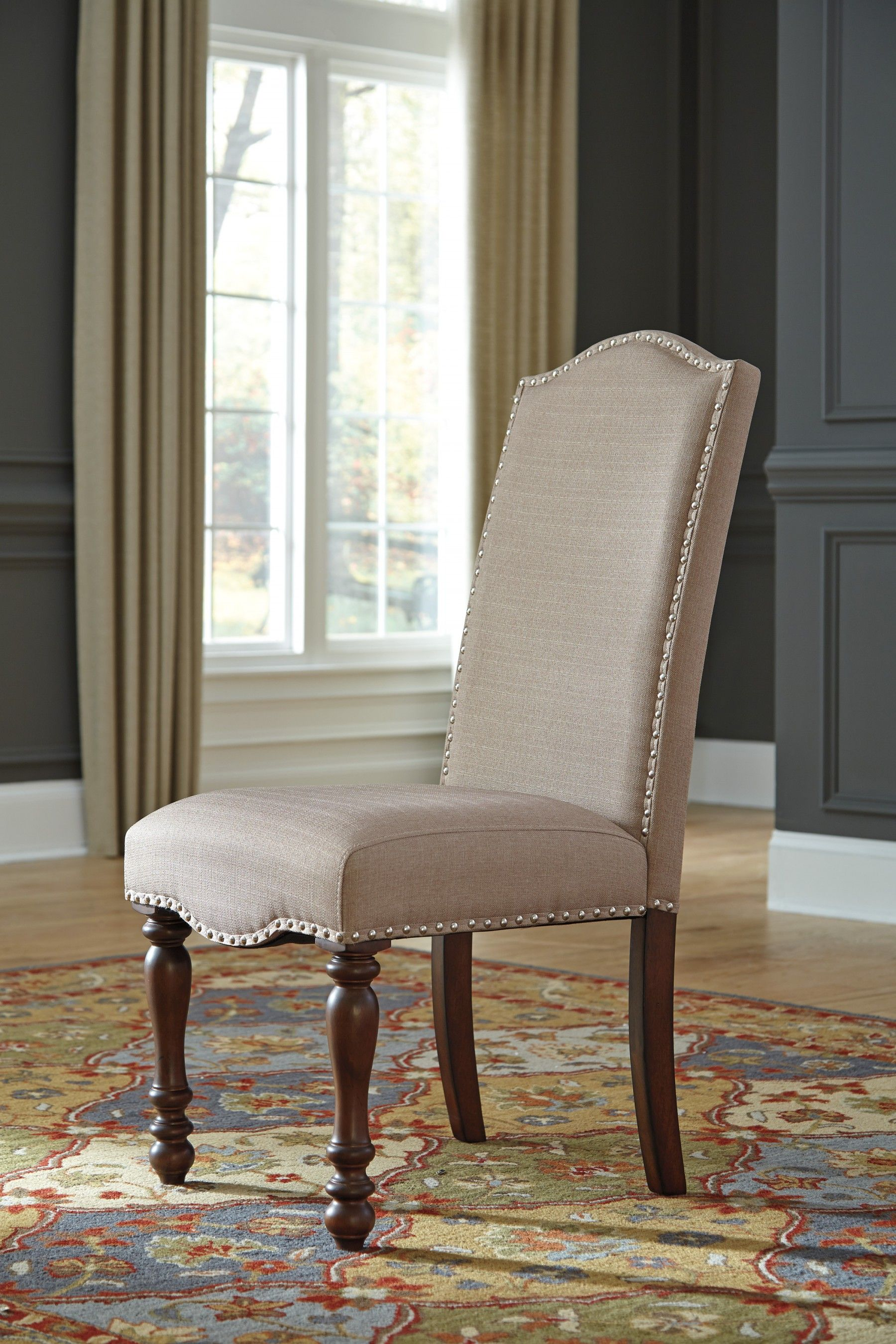 Baxenburg Brown Dining Upholstered Side Chair - Set of 2 | Side chair