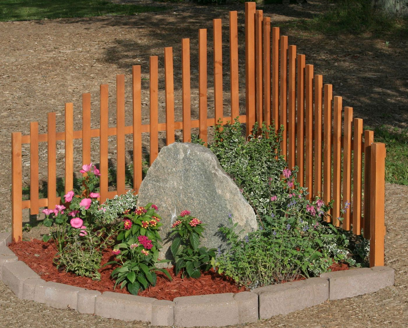 Corner Fence Outdoors Landscaping