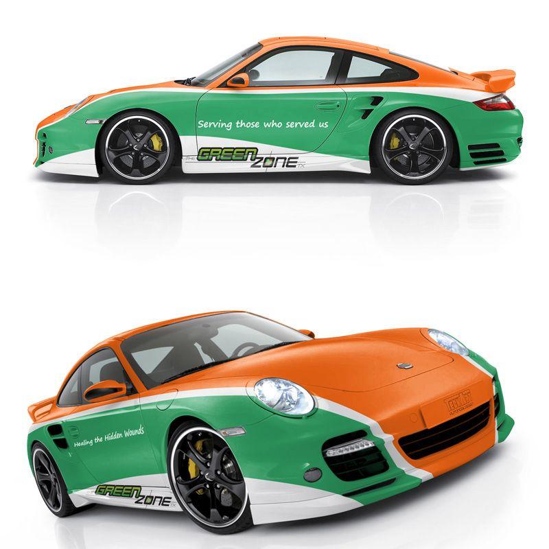 Car wrap design for porsche. | Vehicle Branding | Pinterest | Car ...