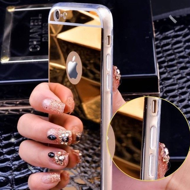 Luxury Gold Plated Mirror Case 4.7 in Ipnone 6, 6s #iPhone