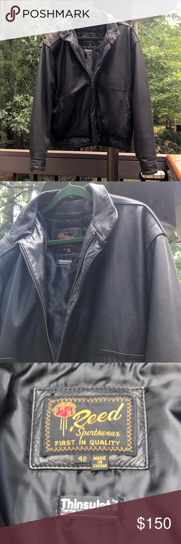 Reed Sportswear Leather Jacket Vintage Leather Jacket Vintage Jacket Harley Davidson Leather Jackets [ 1740 x 580 Pixel ]