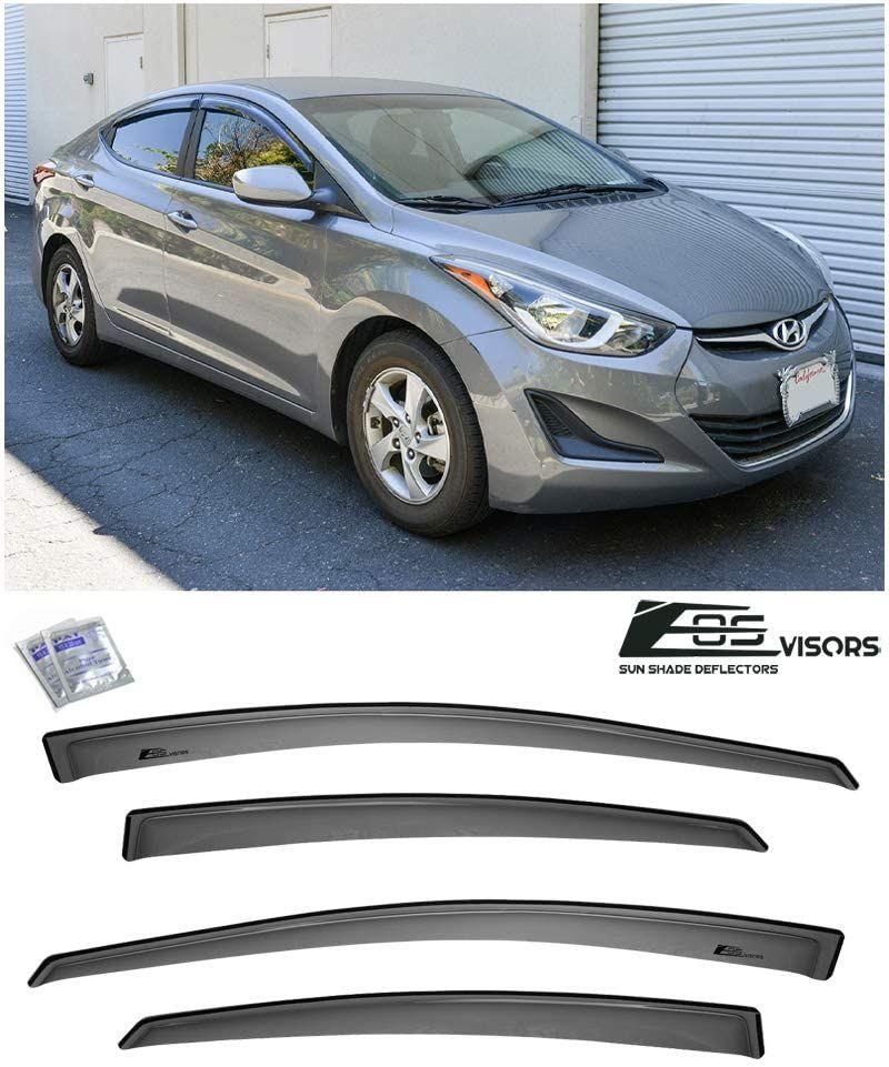 For 13 16 Hyundai Elantra Smoke Tinted Tape On Side Window Visors Rain Deflector In 2020 Hyundai Elantra Elantra Hyundai