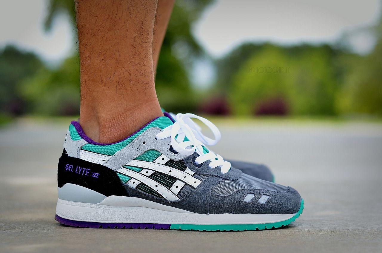 Nice Asics Gel Lyte III - Grey/Mint/Purple #sneakers