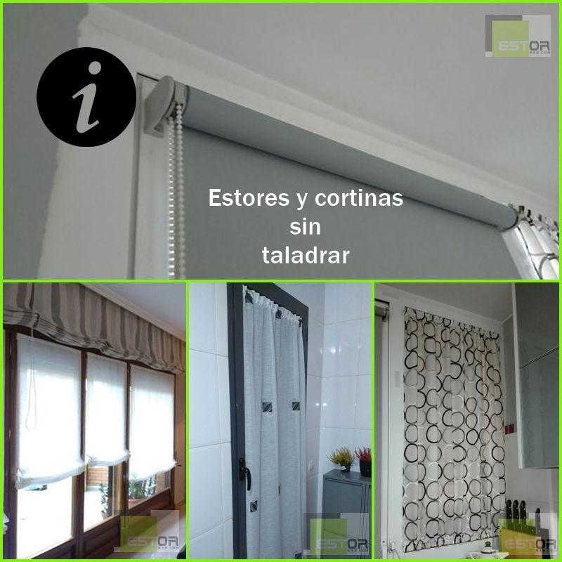 26+ Como poner cortinas sin taladrar ideas