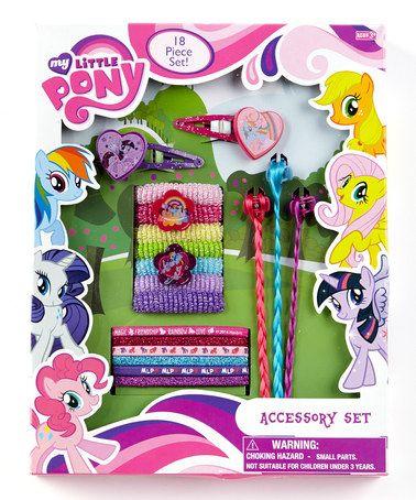 Look at this #zulilyfind! My Little Pony Hair Accessory Box Set #zulilyfinds