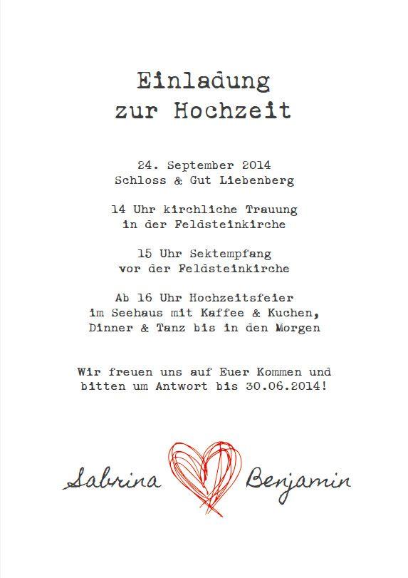 Hochzeitseinladung – Alte Schreibmaschine