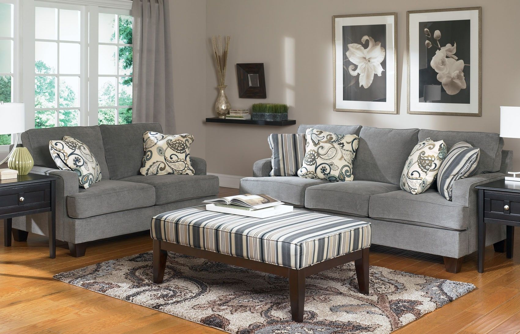 Yvette Sofa And Loveseat Set 7790035 Ashley Furniture 999 Grey