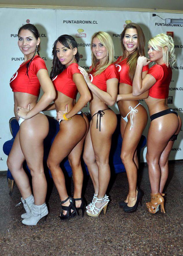 girls Latina group bikini