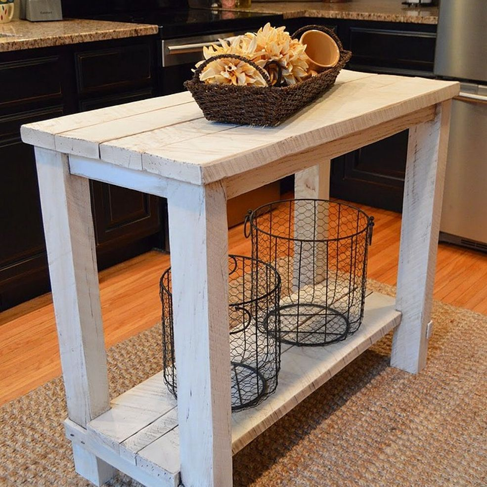 Build Kitchen Island Table: Rustic Reclaimed Wood Kitchen Island Table