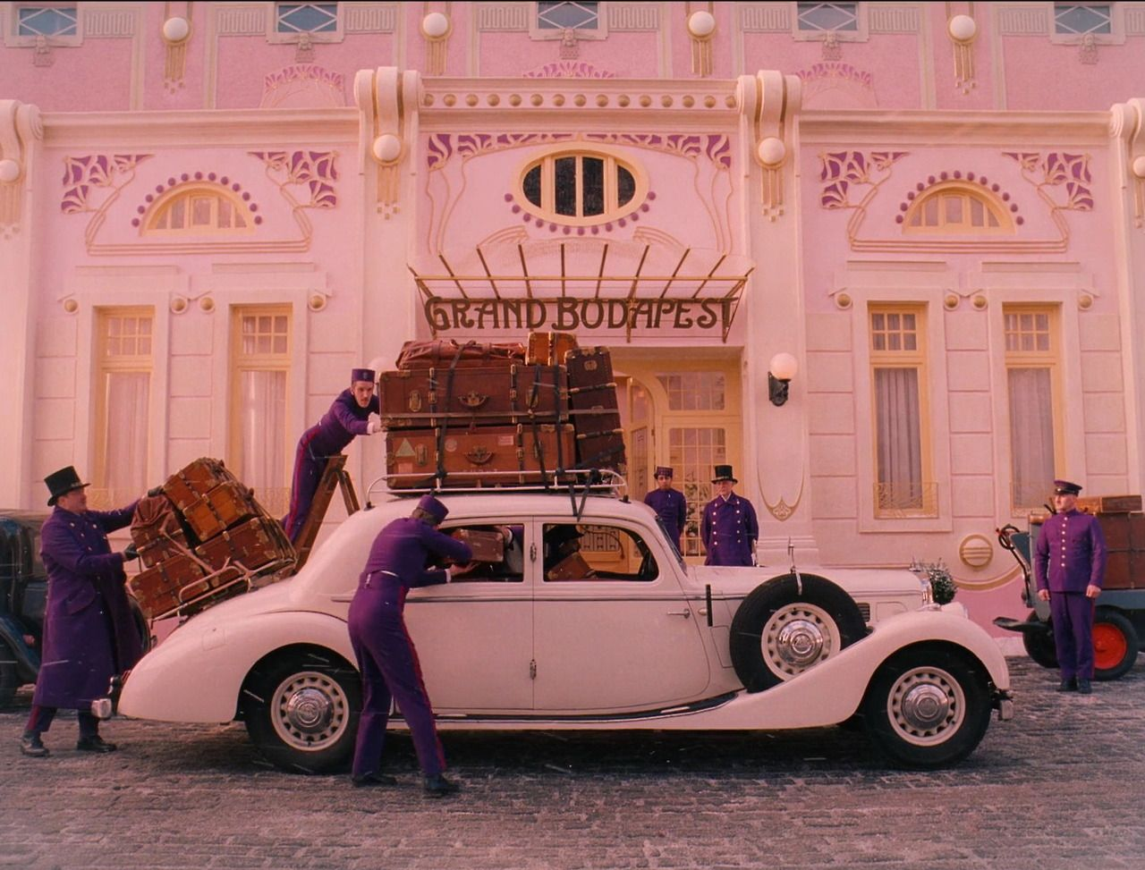 The Grand Budapest Hotel screenshots - cinematography by Robert D. Yeoman - 2013