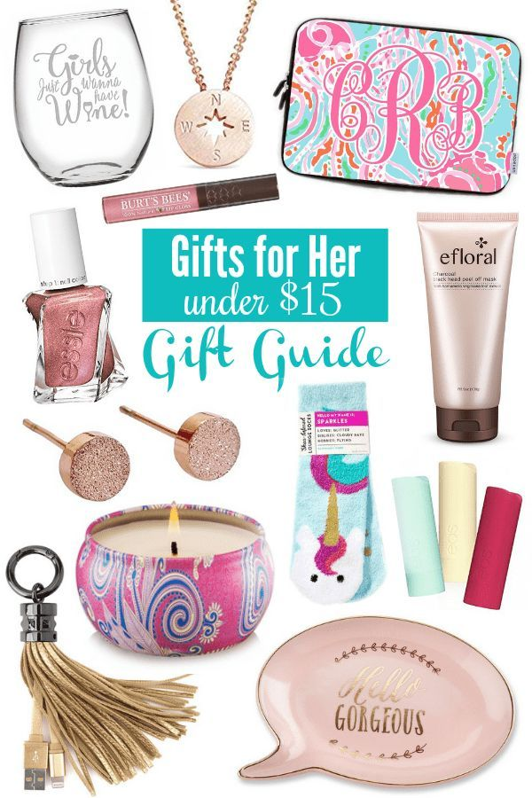 Gifts for Her Under $15 Gift Guide #giftguide #giftsforher #giftideas