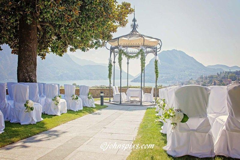 Wedding Ceremony In The Gardens Of The Villa Sassa Hotel Und Spa Lugano Photographer Interlaken Civil Weddin Garden Wedding Venue Wedding Civil Wedding