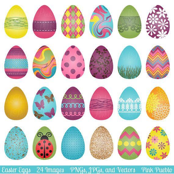 Easter Eggs Clipart Clip Art Easter Clip Art Clipart And Etsy In 2020 Easter Egg Designs Easter Eggs Easter Clipart