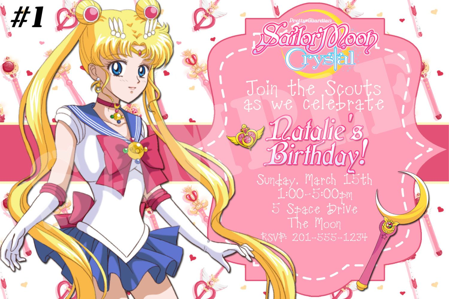 anime party invitations Google Search Sailor moon