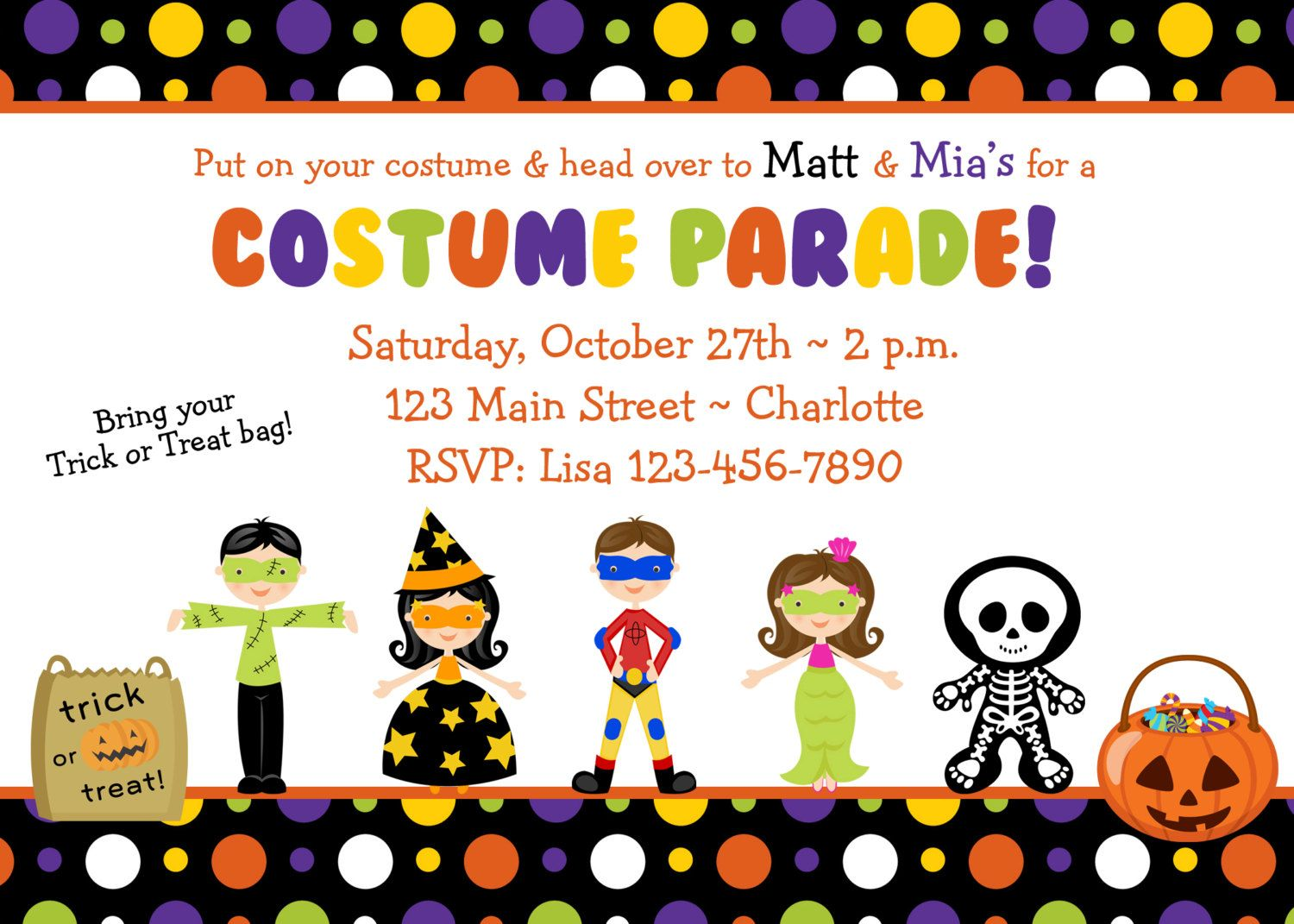 Halloween costume party invitation -- Costume Parade Party ...
