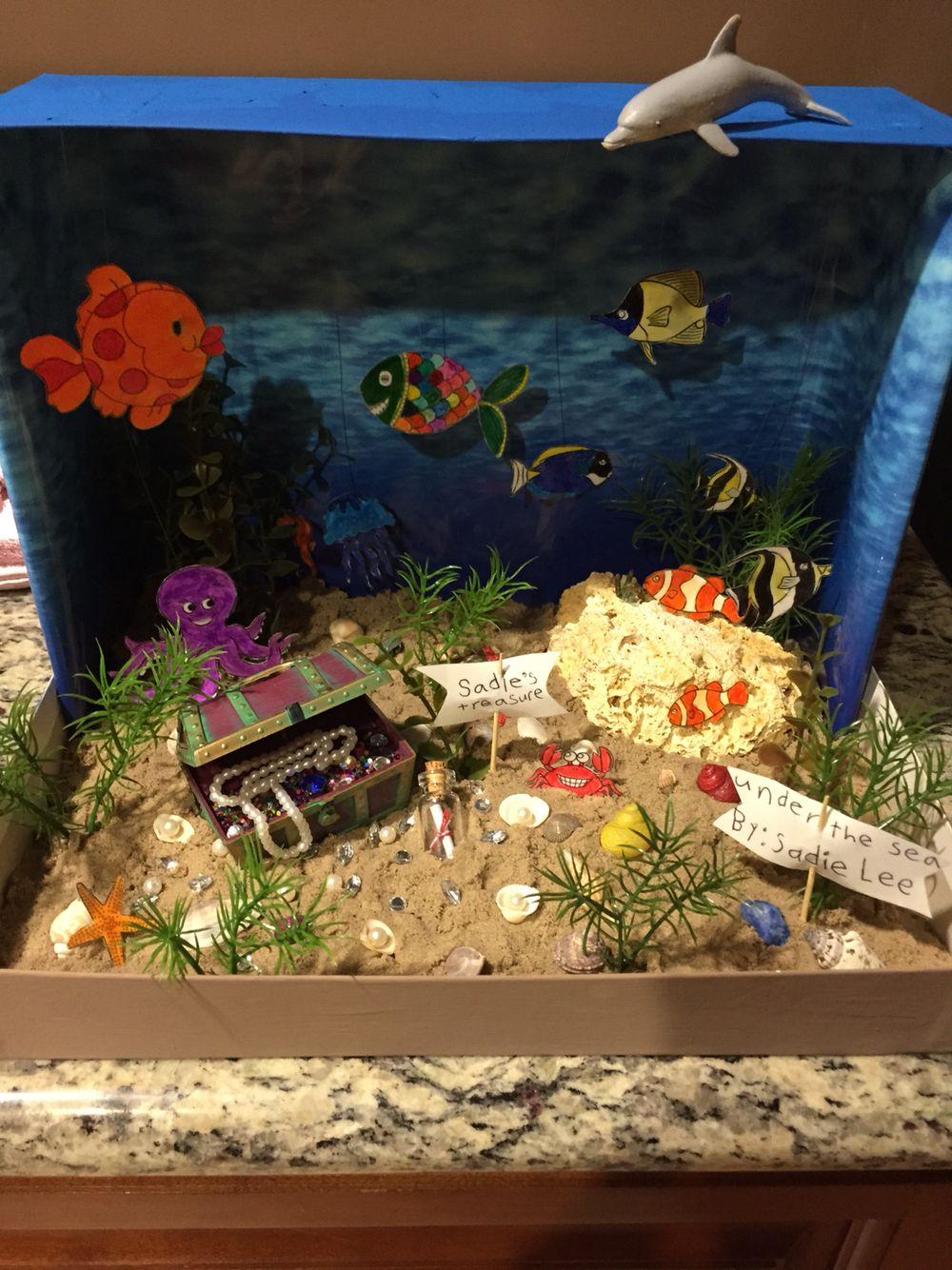 Ocean diorama under the sea diorama ideas sadie for Habitat container
