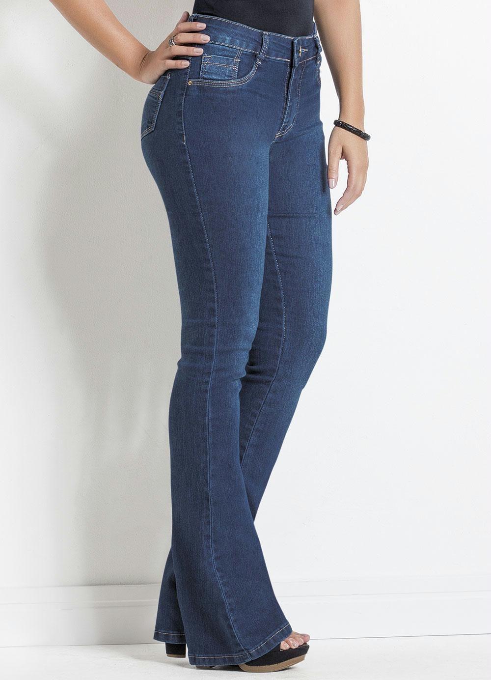 1468b81b0 Calça Jeans Sawary Azul Modelo Flare - Posthaus
