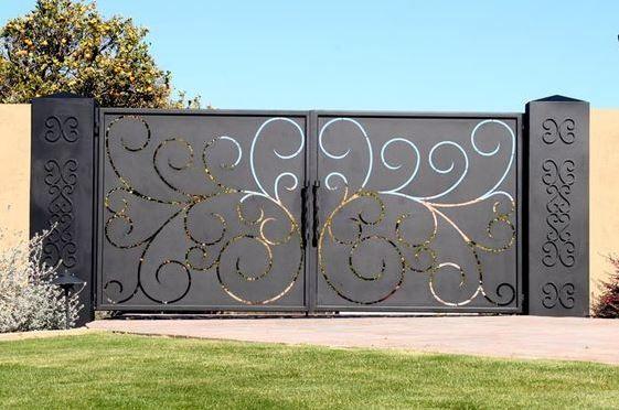 Modelos de portones de hierro fachada pinterest for Modelos de portones en hierro forjado