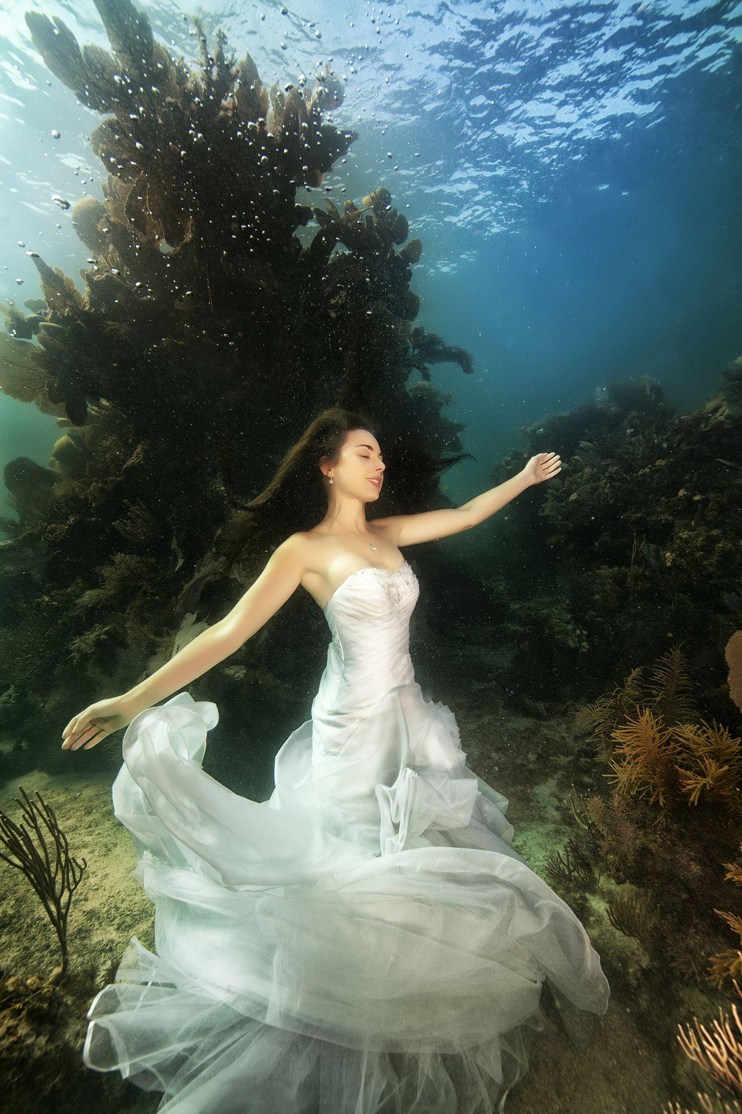 بالصور جلسة تصوير رائعة لحفلات Underwater Wedding Underwater Photoshoot Underwater Model