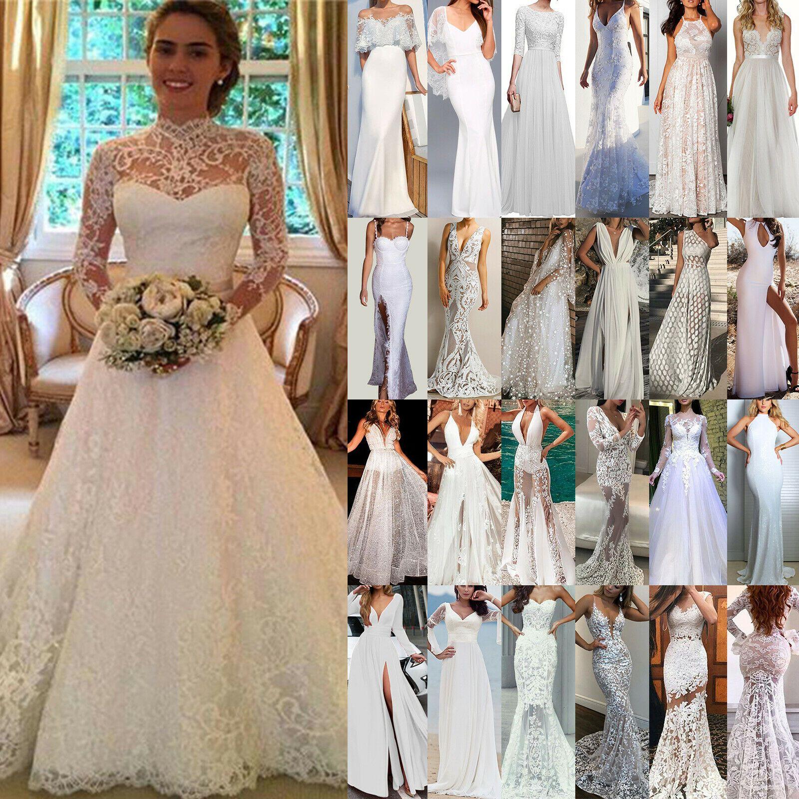Damen Lang Prom Abend Brautjungfer Hochzeit Cocktailkleid Partykleid Maxikleid