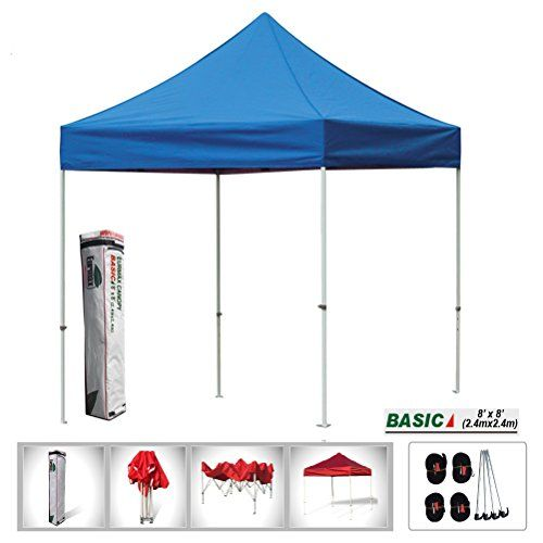 Eurmax Basic 8x8 Ez Pop up Canopy Instant Party Tent Outdoor Shade Canopy Portable Folding Gazebo  sc 1 st  Pinterest & Eurmax Basic 8x8 Ez Pop up Canopy Instant Party Tent Outdoor Shade ...