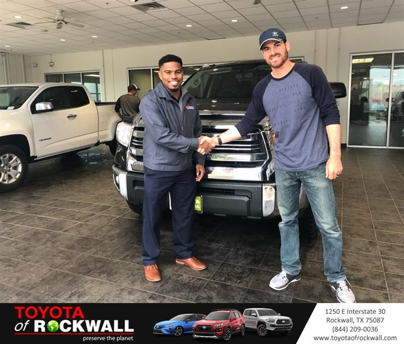 Congratulations Brandin On Your Toyota Tundra 2wd Truck From Nathan Robinson At Toyota Of Rockwall Toyotaofrockwall Toyota Rockwall Toyota Dealership