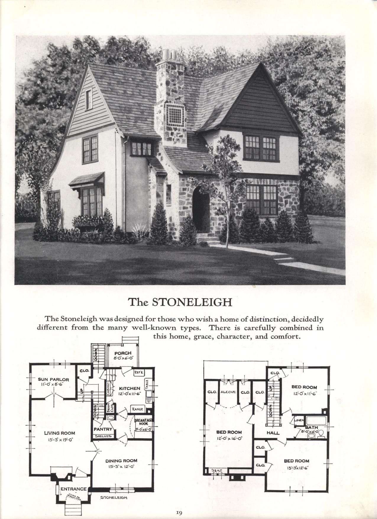 Better Homes At Lower Cost No 17 By Standard Homes Co Publication Date 1930 The Stoneleigh Small House Floor Plans Cottage Floor Plans House Plans