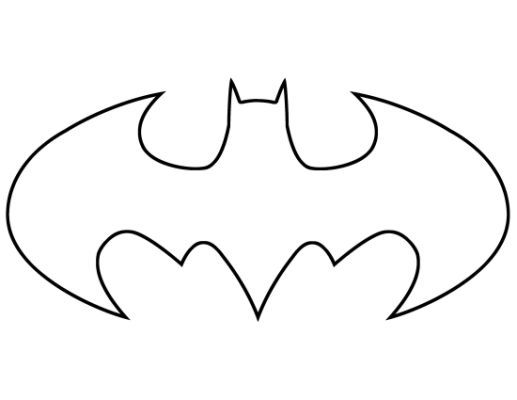 Bat Man Logo Black And White Batman Coloring Pages