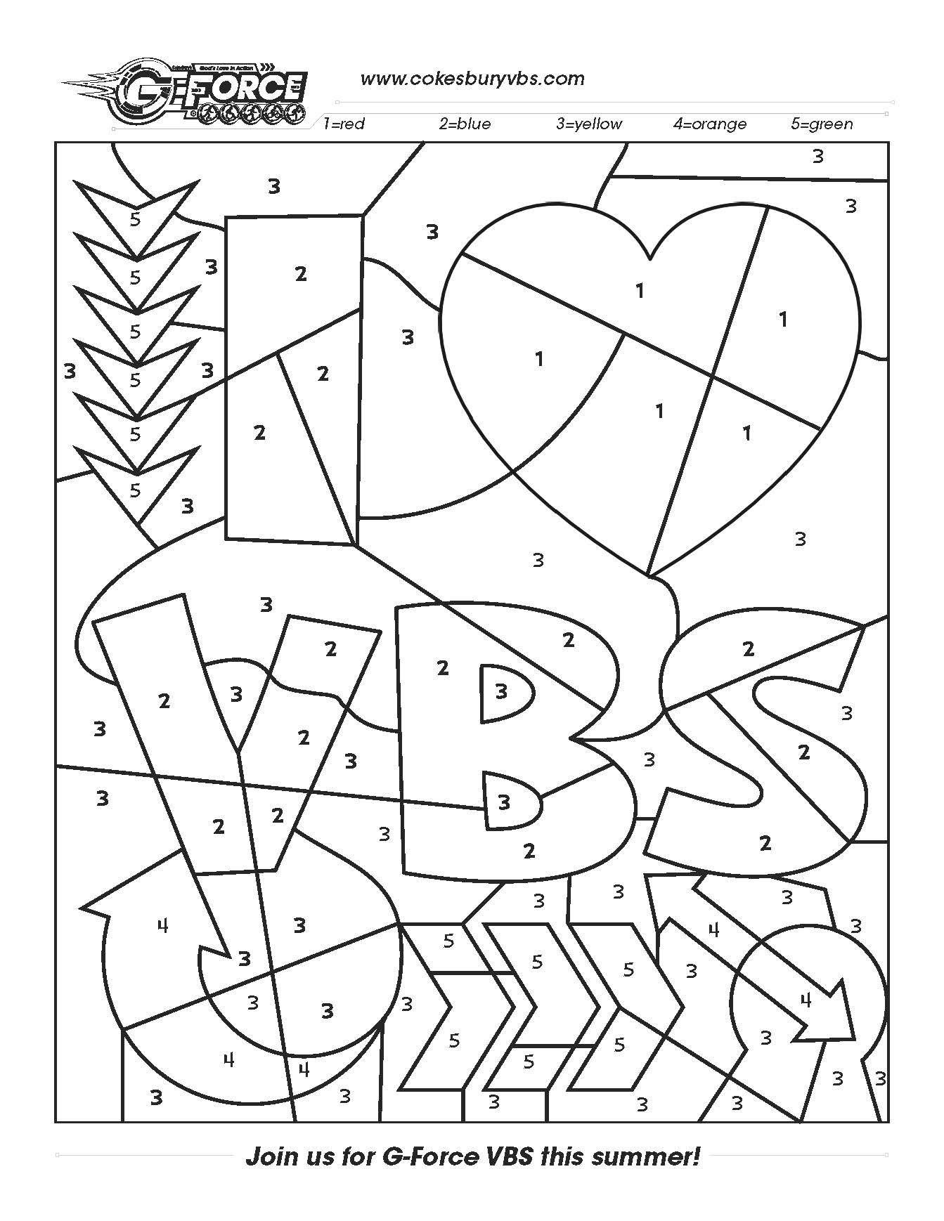 Fun activity sheet to use anytime! cokesburyvbs.com | VBS ideas ...