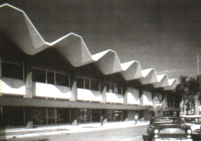 Folded Plate Concrete Roof