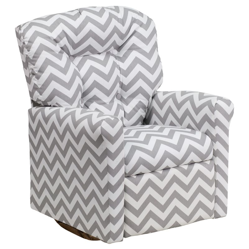 Superb Chevron Kids Rocker Recliner Kids Recliner Chair Kids Gmtry Best Dining Table And Chair Ideas Images Gmtryco