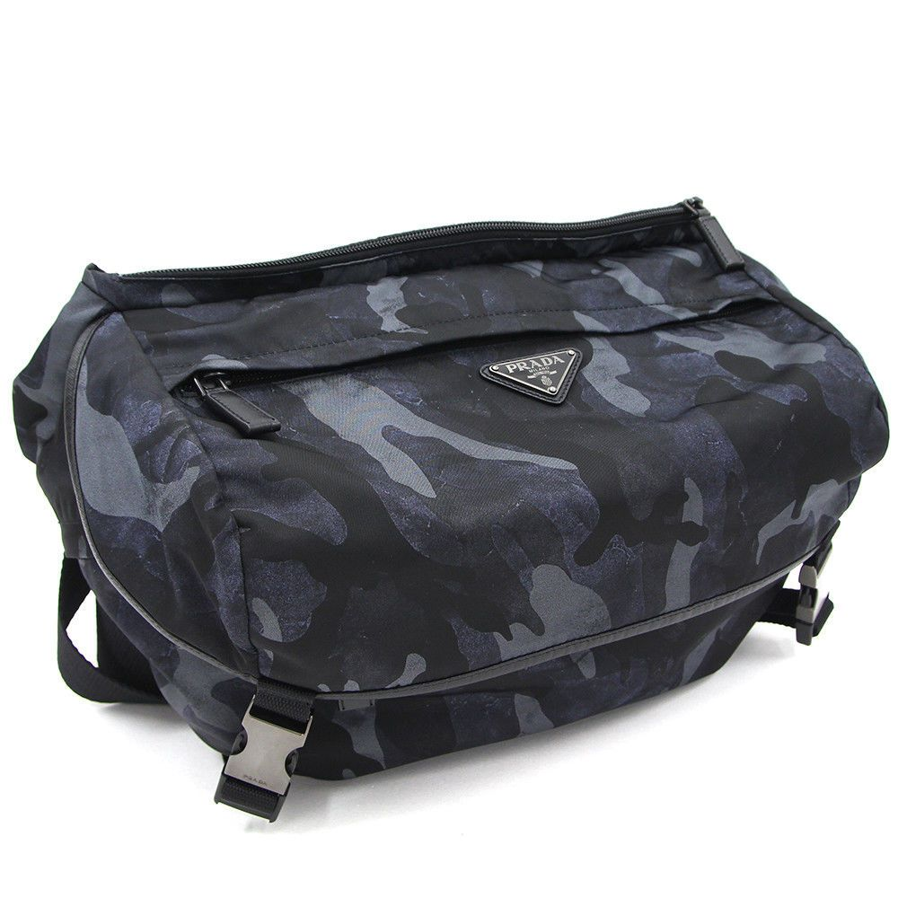 cf49b3270e4c ... official ebay sponsored prada va0994 messenger bag crossbody bleu  tessuto camoufl mens fs nos mint e1021