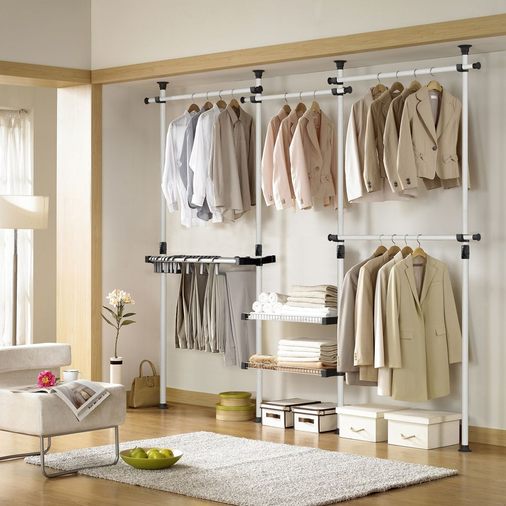 Closet Clothes Rack: Deluxe Pants & Shelf Hanger
