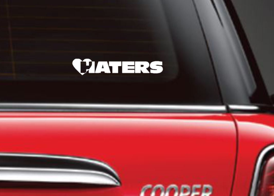 Haters decal i love haters