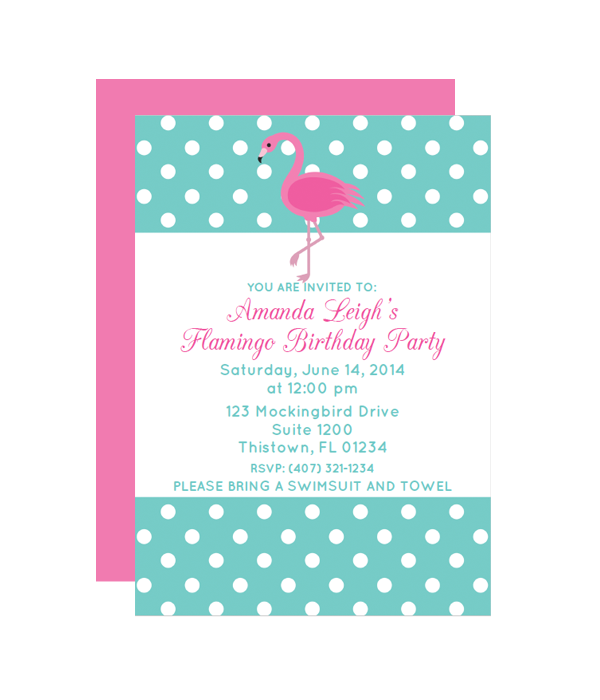 Polka Dot Flamingo Party Invitation Chicfetti Parties Free Printable Party Invitations Flamingo Party Invitation Polka Dot Birthday Party