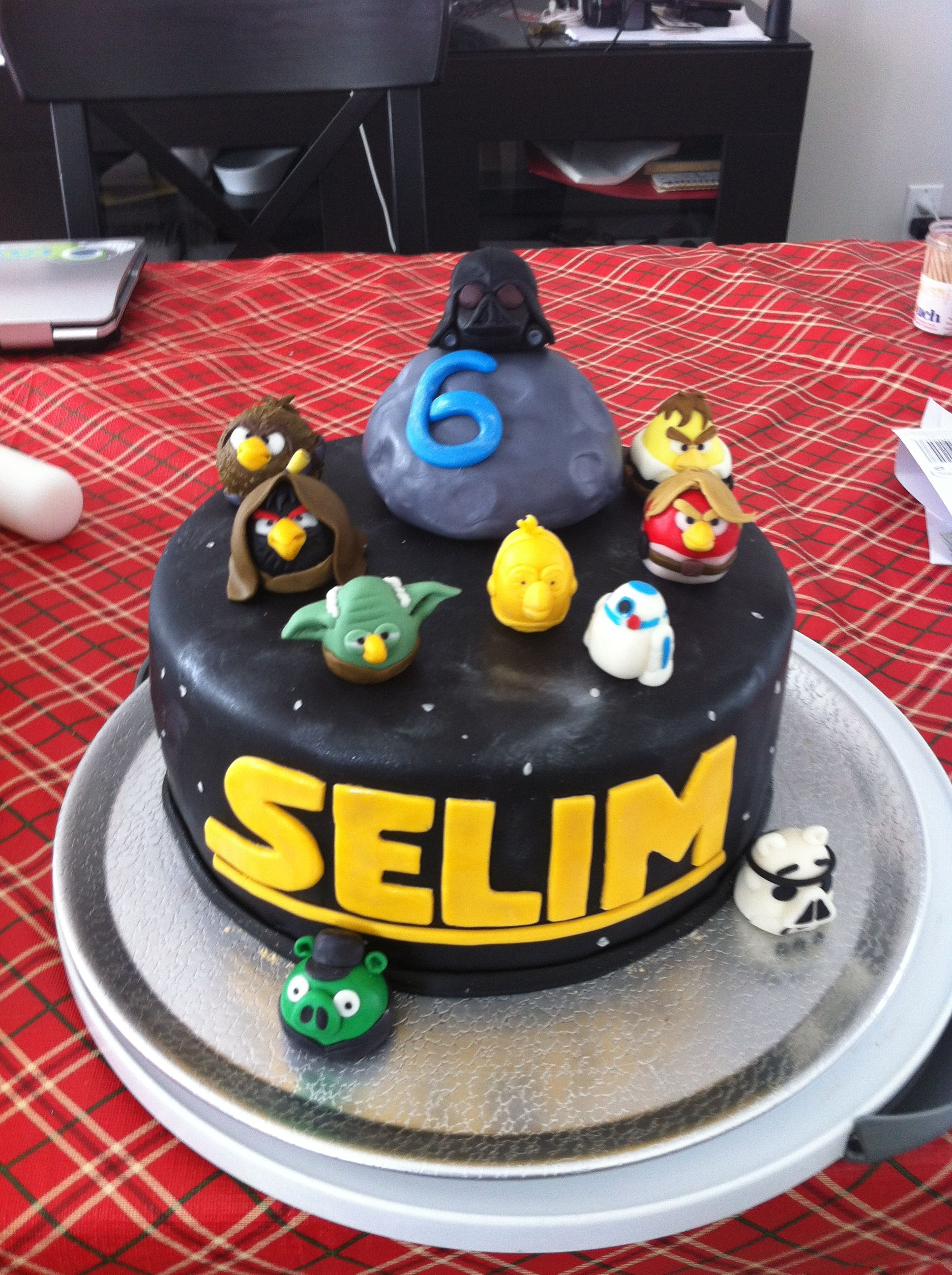 Angry Birds Star Wars Cake I Made For My Son S 6th