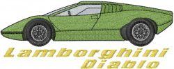 Lamborghini Diablo embroidery design