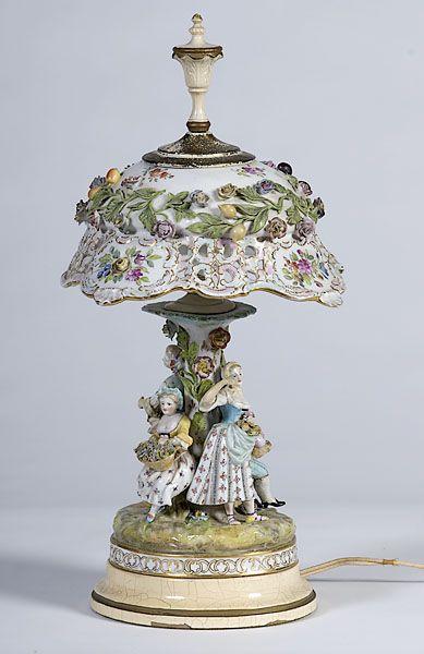 Dresden Porcelain Lamps On Pinterest Porcelain Table
